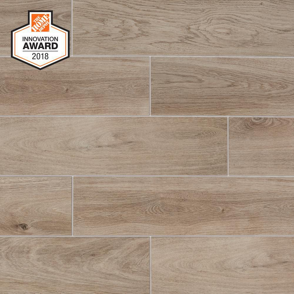 Lifeproof Blonde Wood 6 In X 24 In Glazed Porcelain Floor And Wall Tile 14 55 Sq Ft Case