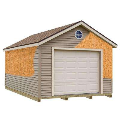 Greenbriar 12 ft. x 16 ft. Prepped for Vinyl Garage Kit with Sturdy Built Floor