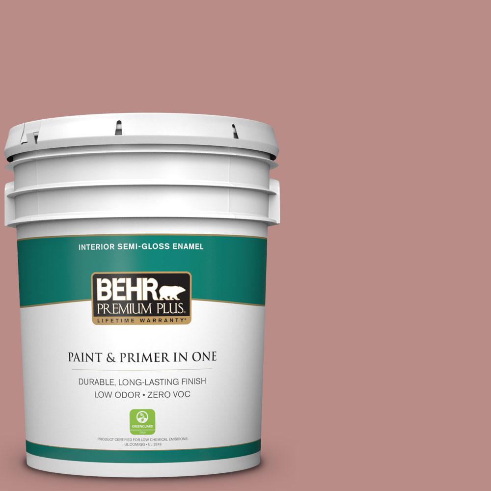 5-gal. #170F-5 Brick Dust Zero VOC Semi-Gloss Enamel Interior Paint