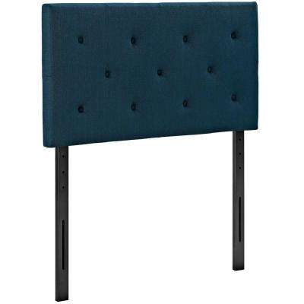 Terisa Azure Twin Upholstered Fabric Headboard
