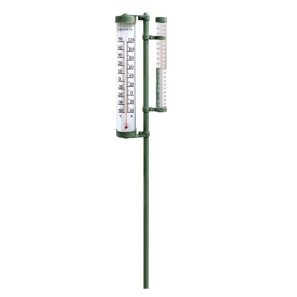 acurite rain gauge and thermometer combo 02345a2 the home depot
