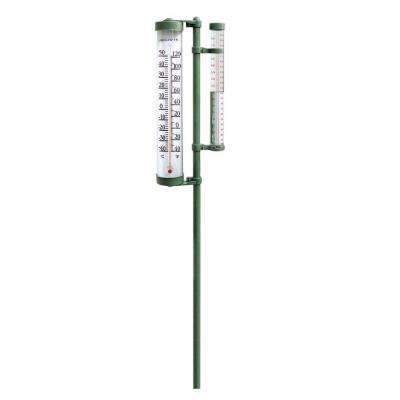Rain Gauge and Thermometer Combo