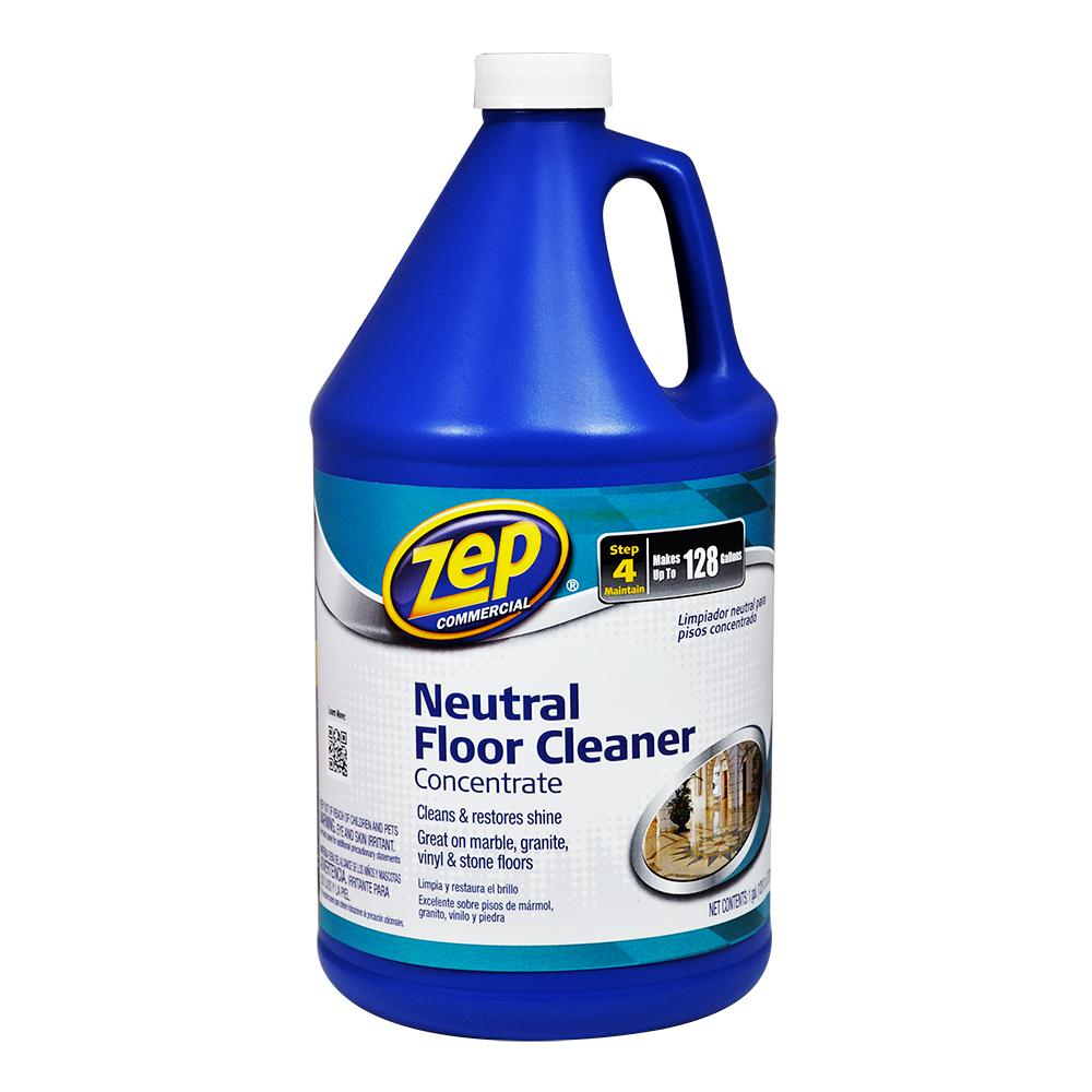ZEP 128 oz. Neutral Floor Cleaner (Case of 4)-ZUNEUT128 - The Home Depot