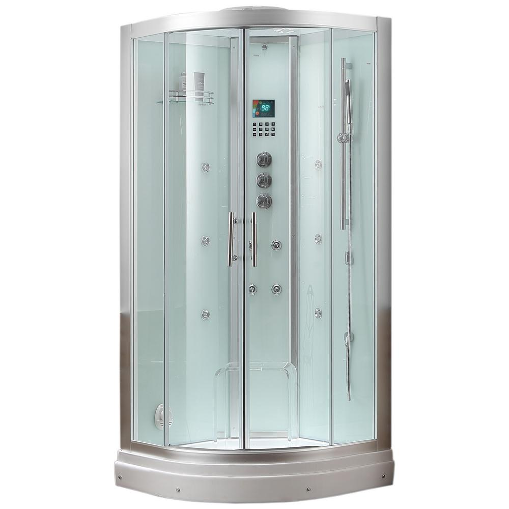 Steam shower enclosure kit