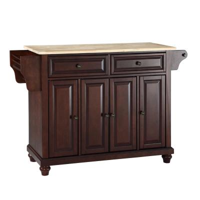 Cambridge Mahogany Kitchen Island with Wood Top