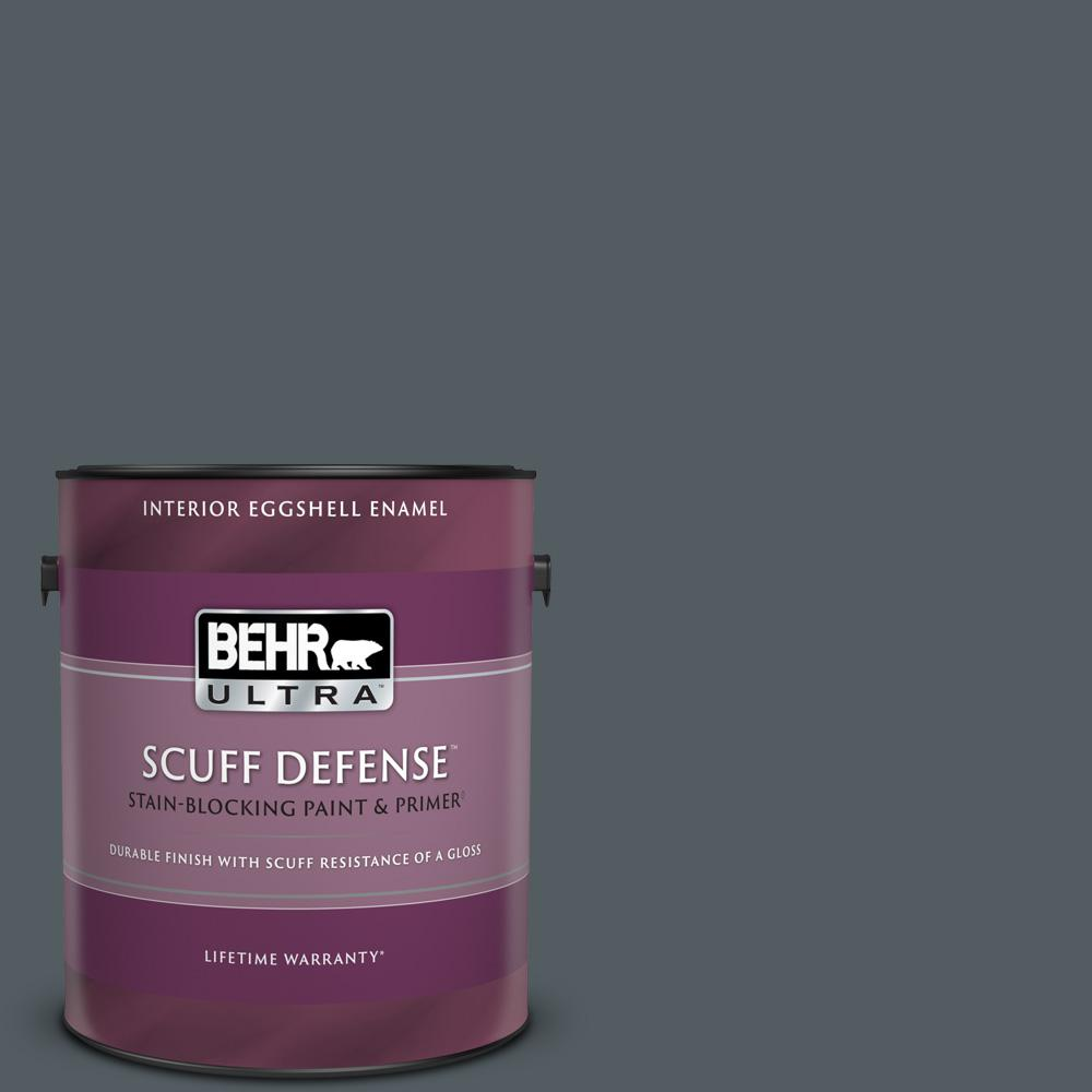 Reviews For Behr Ultra 1 Gal Ppu25 21 City Rain Extra Durable Eggshell Enamel Interior Paint Primer 275301 The Home Depot