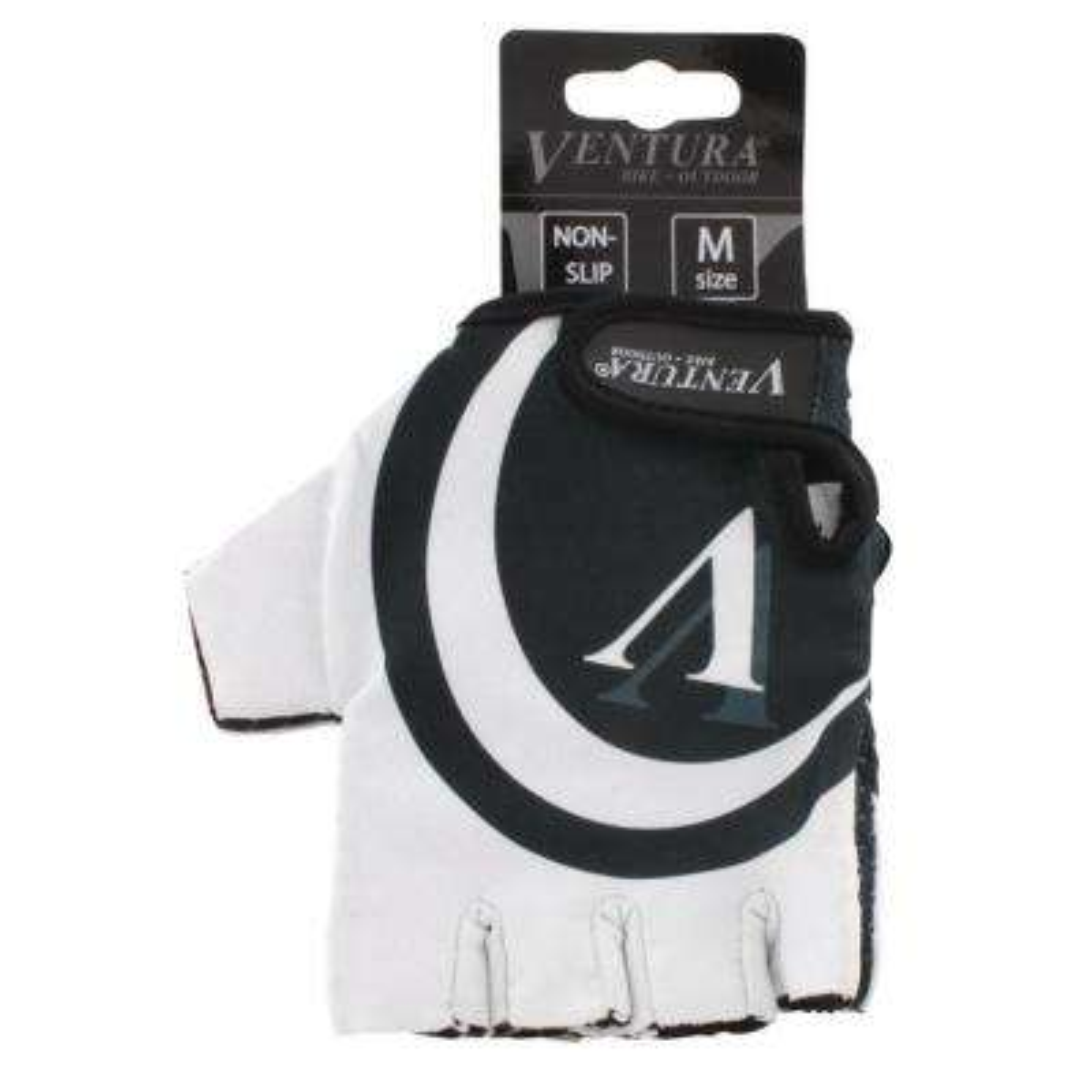 Large/X-Large White Bike Gloves