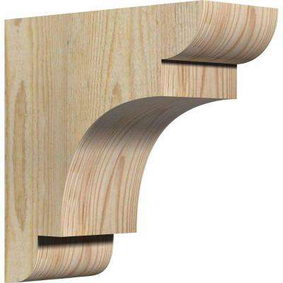 4 in. x 10 in. x 10 in. Douglas Fir New Brighton Rough Sawn Corbel