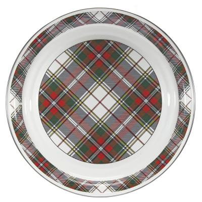 Highland Plaid 20 in. Enamelware Serving Tray