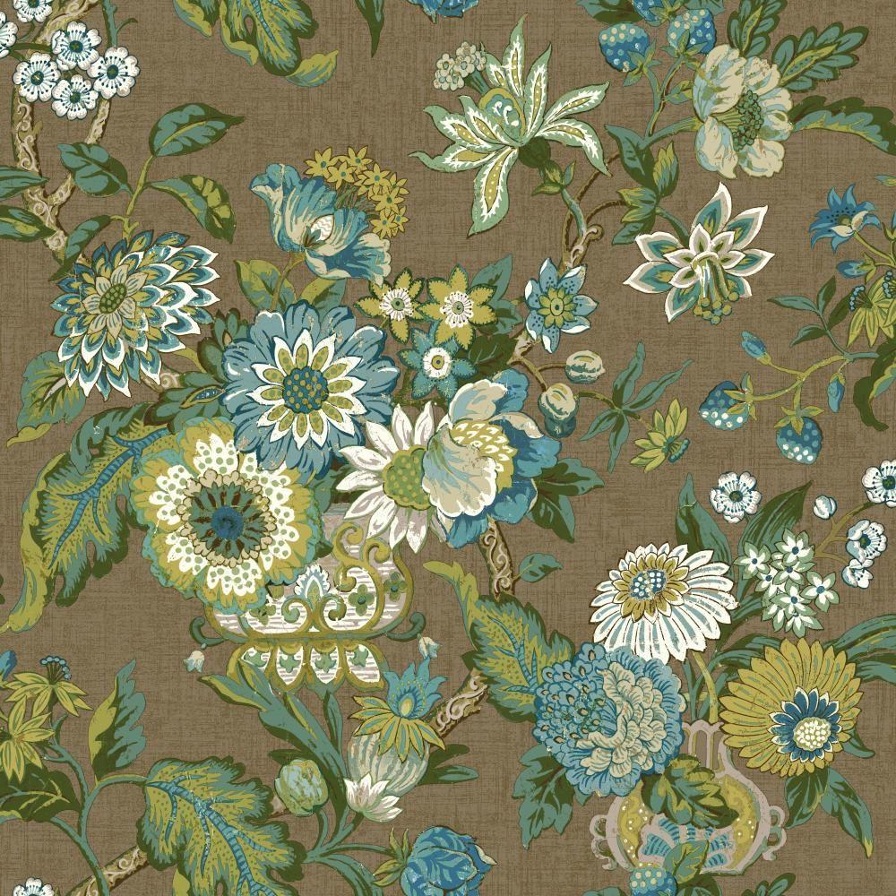 York Wallcoverings Global Chic Graceful Garden Wallpaper Gc8705