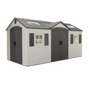Lifetime 15 ft. x 8 ft. Double Door Storage Shed by Lifetime