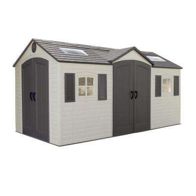 15 ft. x 8 ft. Double Door Storage Shed