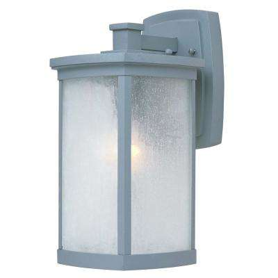 Terrace 7 in. W 1-Light Platinum Outdoor Wall Lantern Sconce