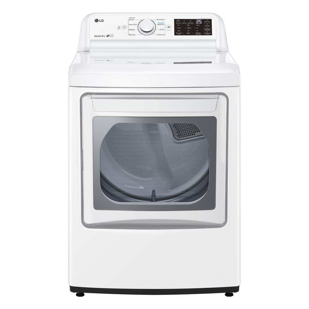 7.3 cu. ft. White Gas Dryer with EasyLoad Door