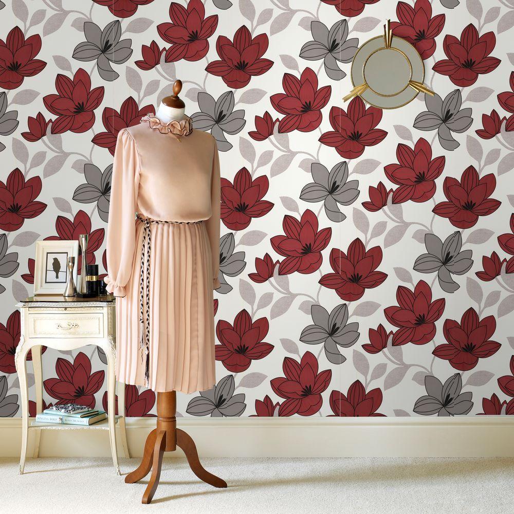 Superflora Red Wallpaper