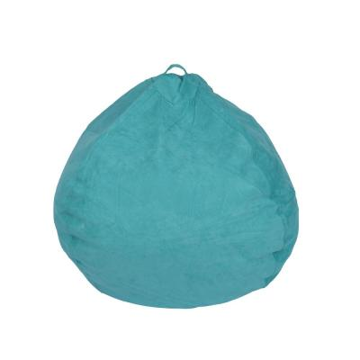 Turquoise Microsuede Bean Bag
