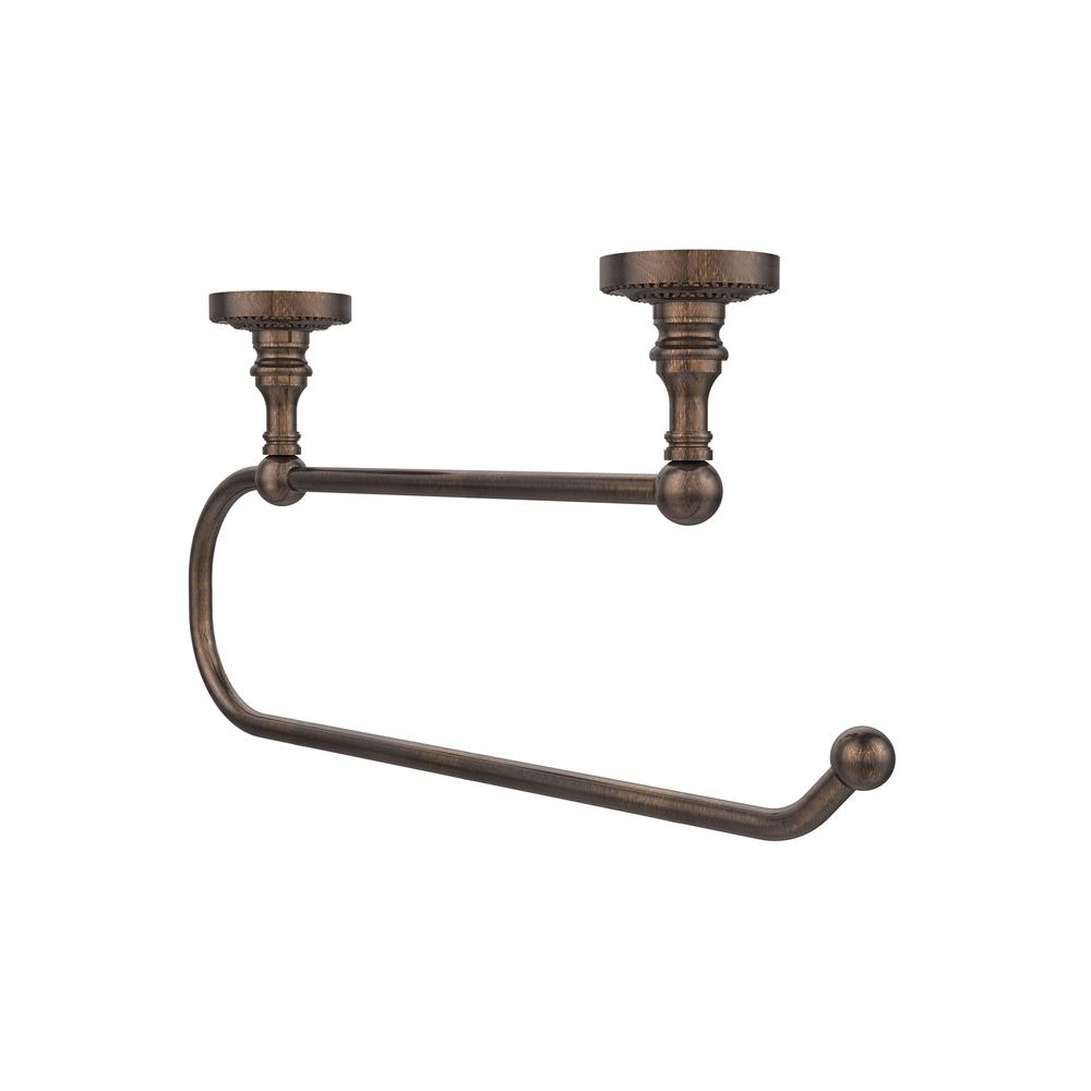 Allied Brass Dottingham Collection Under Cabinet Double Post Toilet Paper Holder in Venetian Bronze