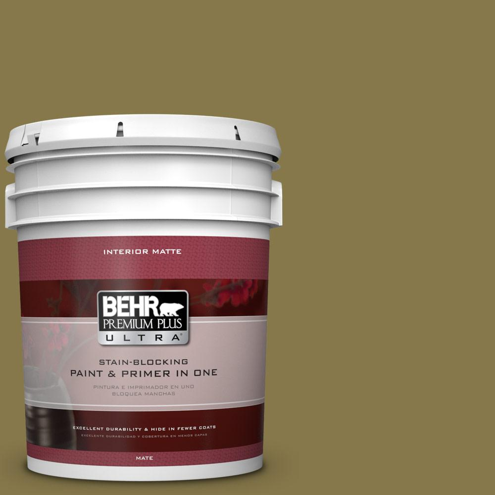 5 gal. #M330-7 Green Tea Leaf Matte Interior Paint