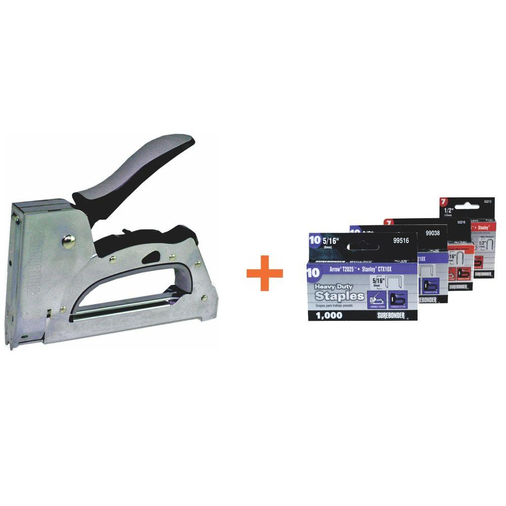 Surebonder Cable Tacker-Staple Gun with Staples (6-Piece)-5645KIT ...