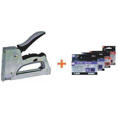 Cable Tacker-Staple Gun with Staples (6-Piece)