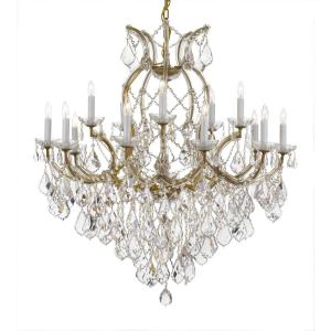 Maria Theresa 16-Light Crystal Chandelier Gold by