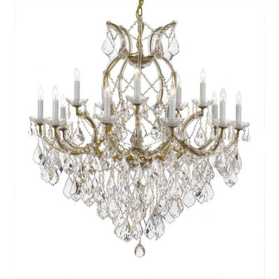 Maria Theresa 16-Light Crystal Chandelier Gold