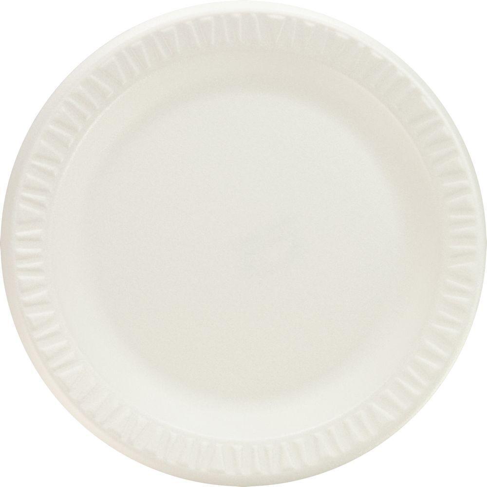 Concorde Non-Laminated Foam Plastic Plates, 9 in., White, 500 Per Case