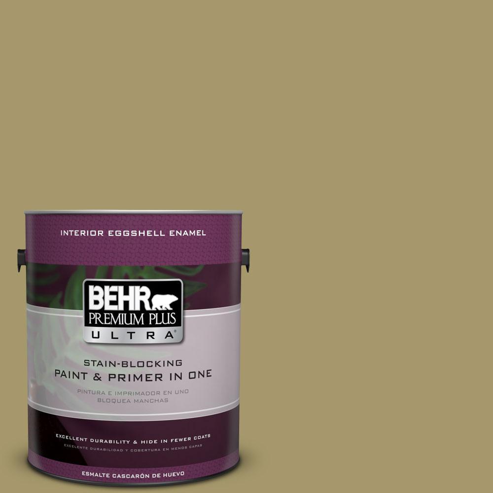 BEHR Premium Plus Ultra 1-Gal. #PPU8-5 Eco Green Eggshell Enamel Interior Paint