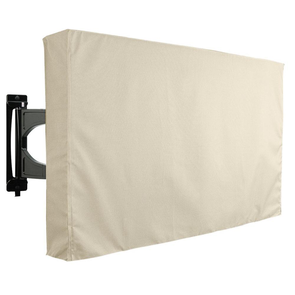 36 in. - 38 in. Beige Outdoor TV Universal Weatherproof Protector