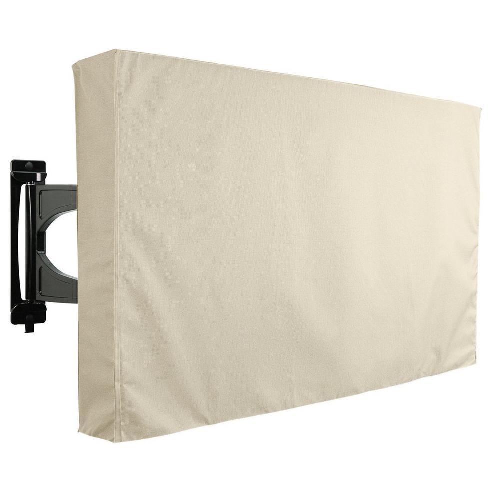 36 in. - 38 in. Beige Outdoor TV Universal Weatherproof Protector Cover