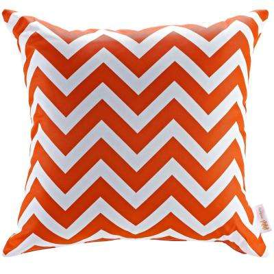 Square Outdoor Throw Pillow in Chevron
