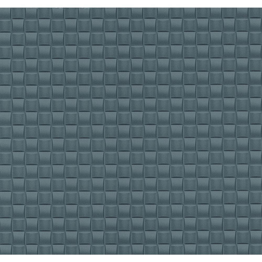 Advantage 56.4 sq. ft. Chet Blue Tile Texture Wallpaper 2799-02468-50