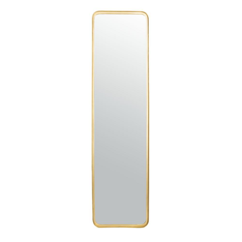 Lerna 61 in. X 16 in. Brushed Brass Framed Mirror
