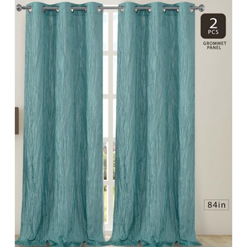 Dainty Home Jackson 38 In W X 84 L Crushed Silk Window Panel