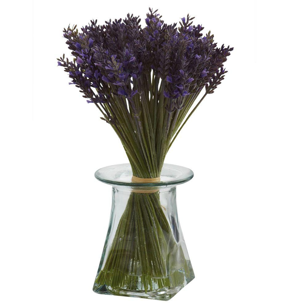 Nearly Natural Lavender Bundle with Vase