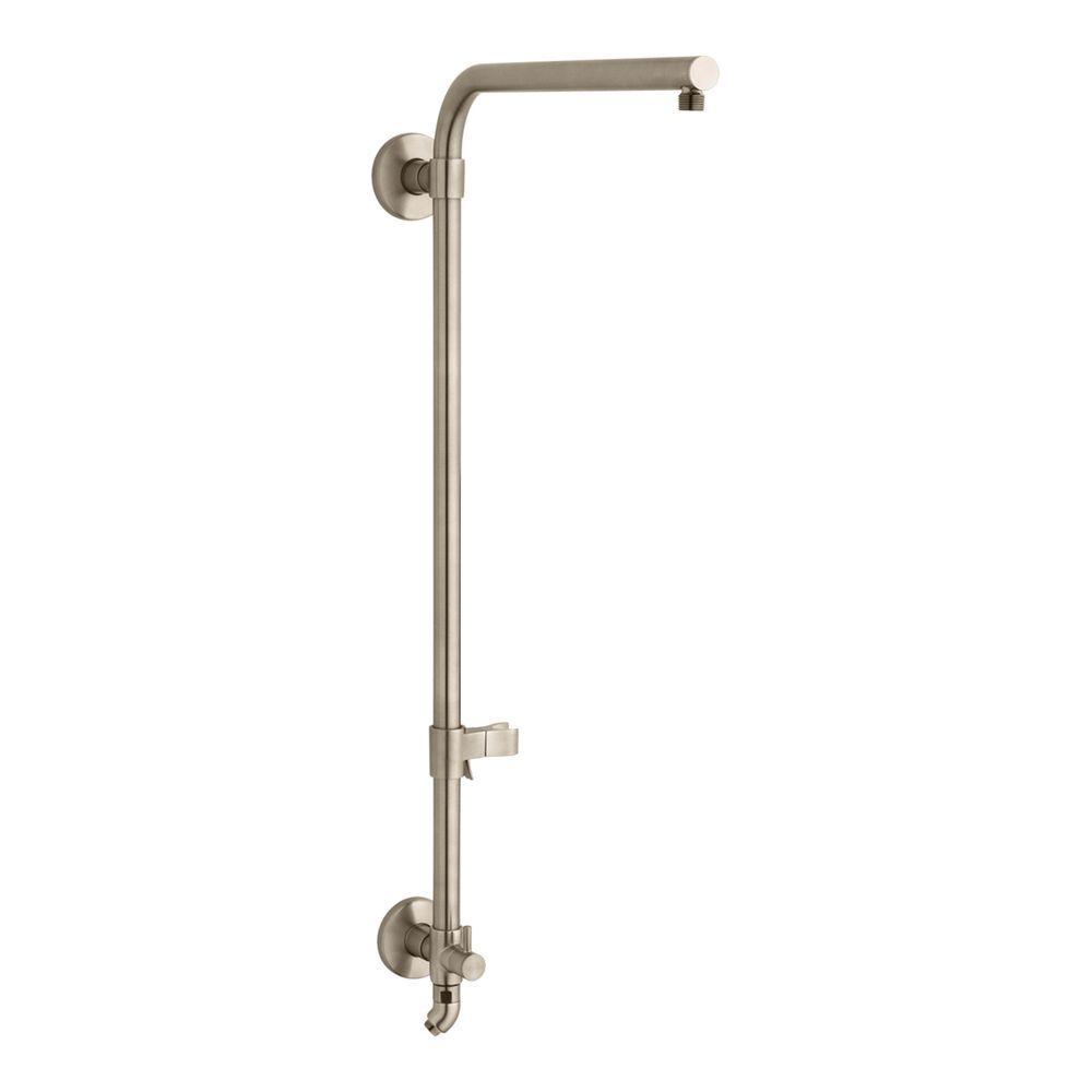 Kohler hydrorail r beam bath shower column vibrant for Vibrant brushed bronze bathroom lighting
