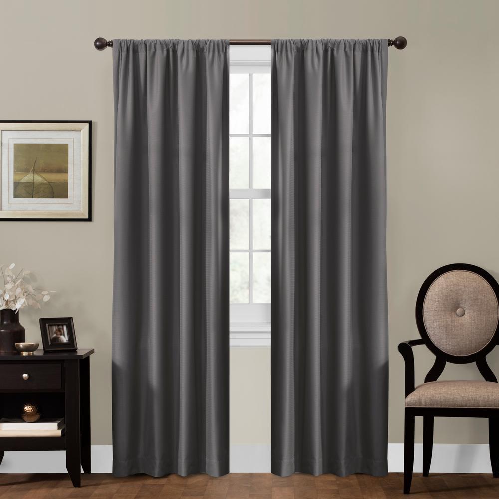 Julius 50 in. x 84 in. 100% Blackout Smart Curtain Window Panel