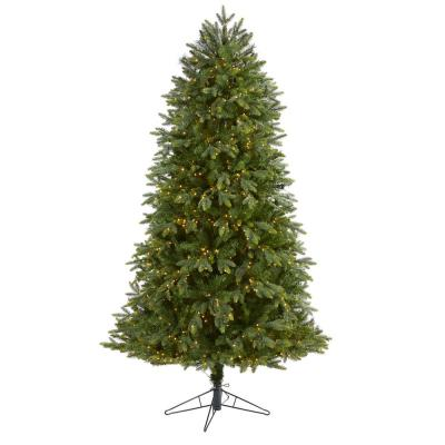 6.5 ft. Pre-lit Oregon Fir Artificial Christmas Tree with 1350 Warm White Micro Multi-Function LED Lights with RC