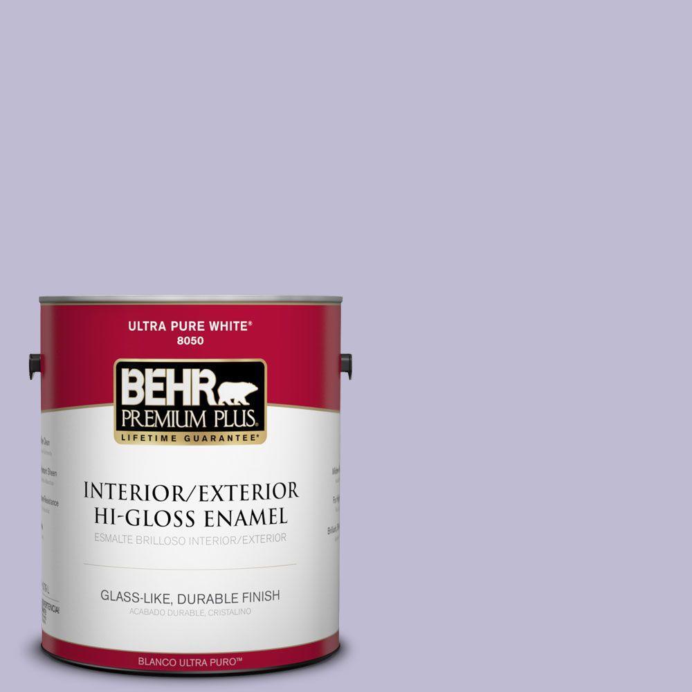 BEHR Premium Plus 1-gal. #640C-3 Twilight Pearl Hi-Gloss Enamel Interior/Exterior Paint