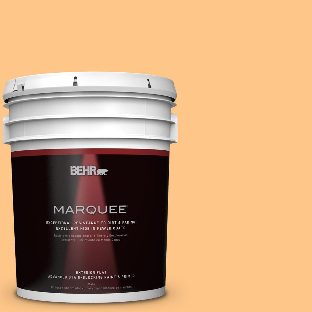 BEHR MARQUEE 5-gal. #P240-4 Mango Tango Flat Exterior Paint
