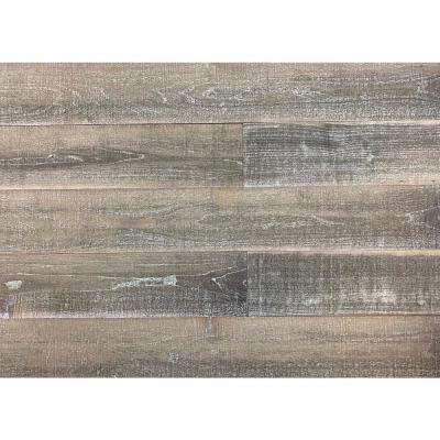 Thermo-treated 1/4 in. x 5 in. x 4 ft. Gray/Brown Barn Wood Wall Planks (10 sq. ft. per 6 Pack)