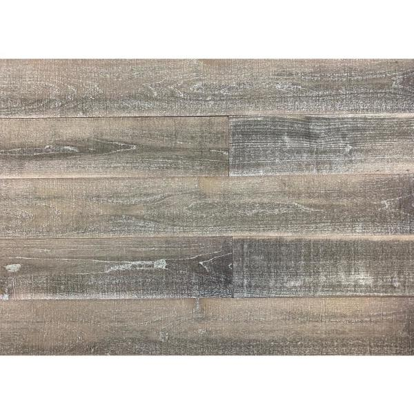 Thermo-treated 1/4 in. x 5 in. x 4 ft. Brown, Black and Gray Barn Wood Wall Planks (10 sq. ft. per 6 Pack)