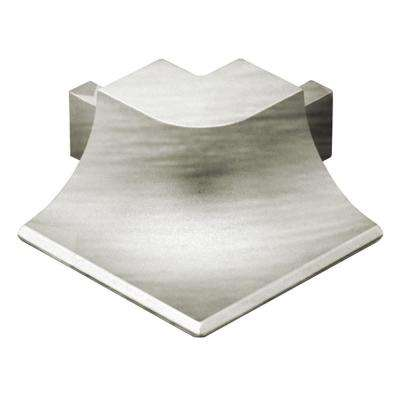 Dilex-AHKA Brushed Nickel Anodized Aluminum 9/16 in. x 1 in. Metal 90 Degree Outside Corner
