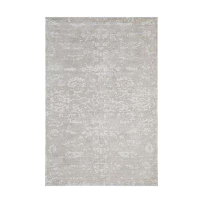 Senneh Beige and White Printed 5 ft. x 8 ft. Indoor Area Rug