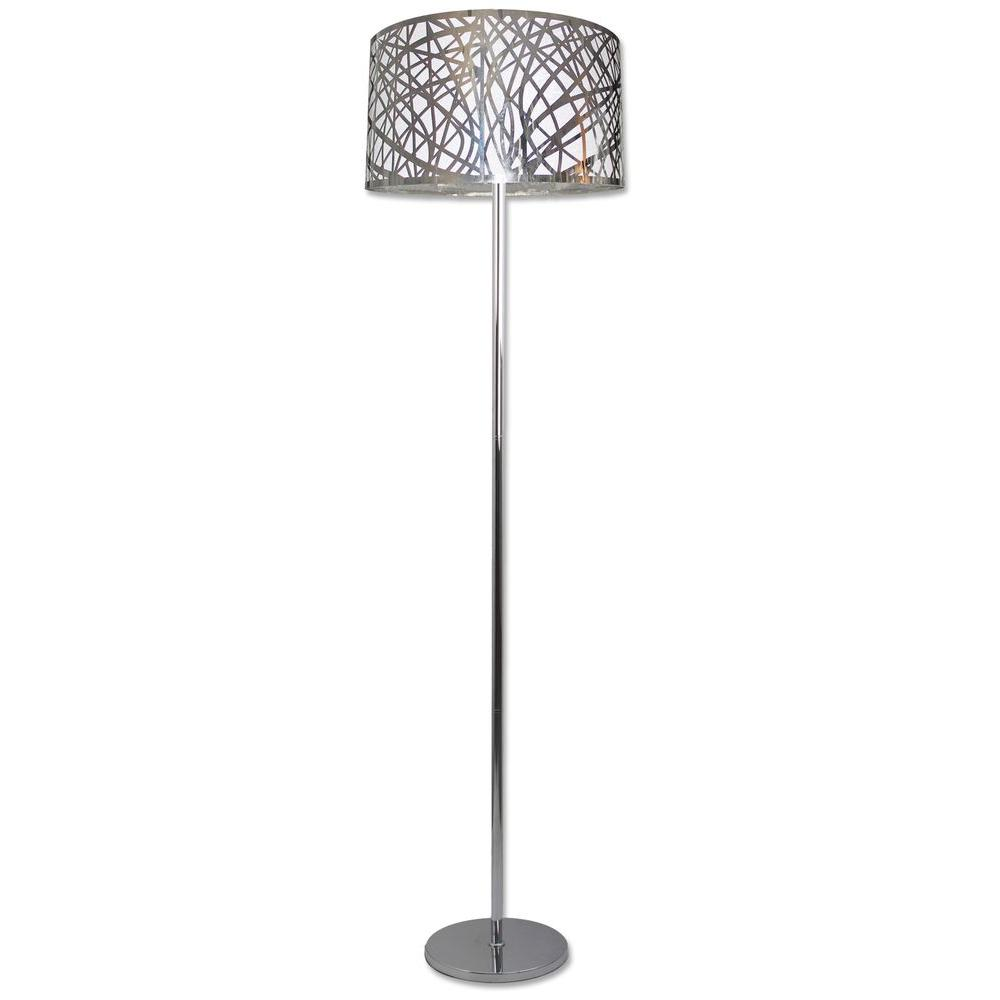 Beldi Nice Collection 63 In 1 Light Chrome Floor Lamp 24360 F1
