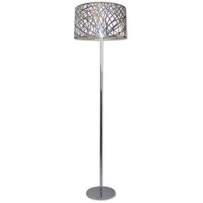 1 Light Chrome Floor Lamp