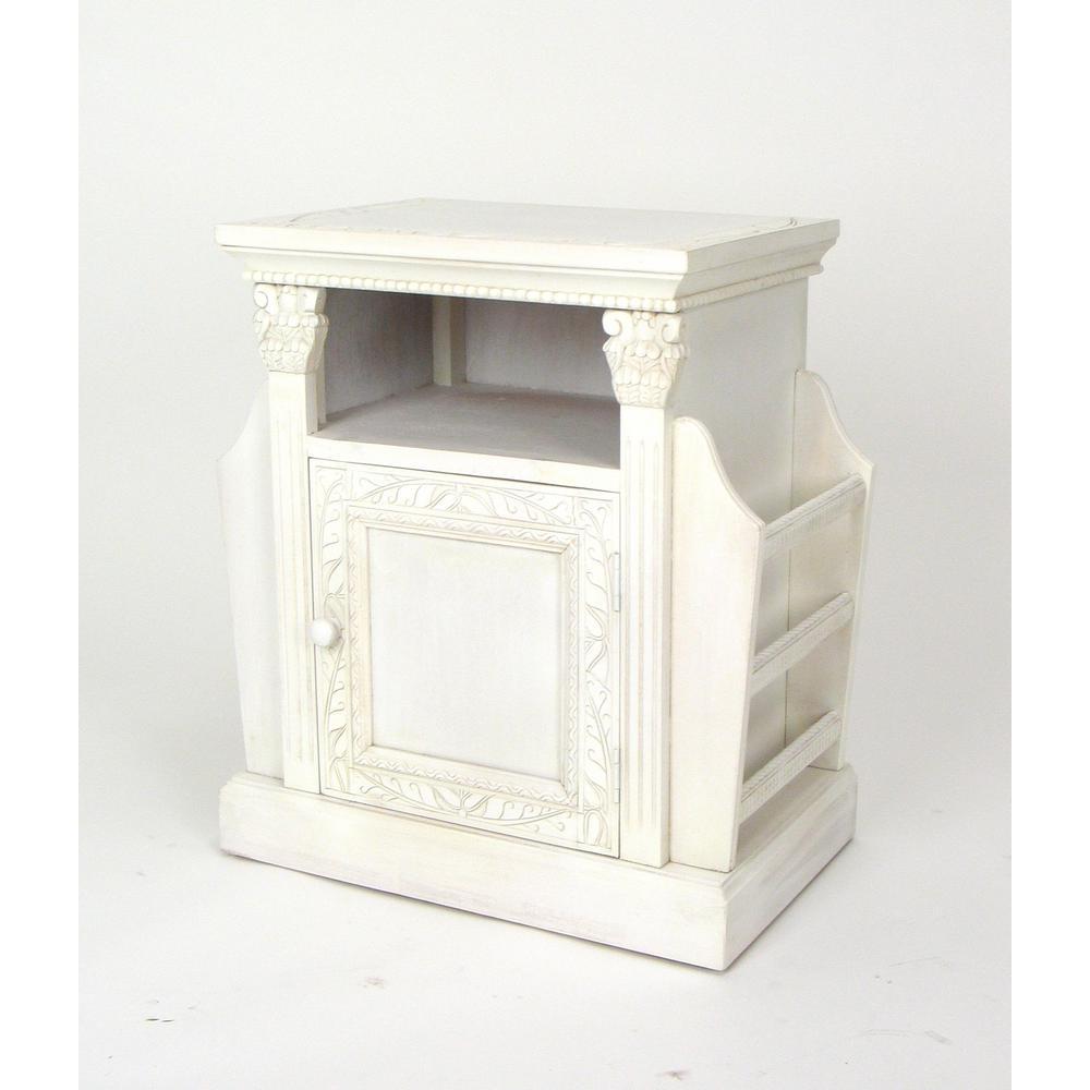 White Trison Magazine Cabinet
