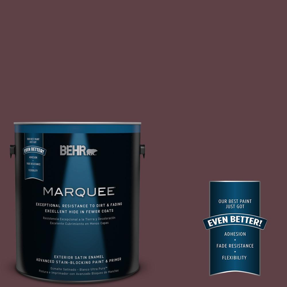 BEHR MARQUEE 1-gal. #MQ1-49 Raspberry Truffle Satin Enamel Exterior Paint