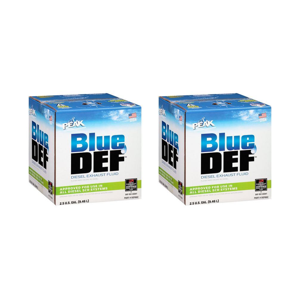2.5 Gal. Diesel Exhaust Fluid Synthetic Urea Deionized Water (2-Pack)