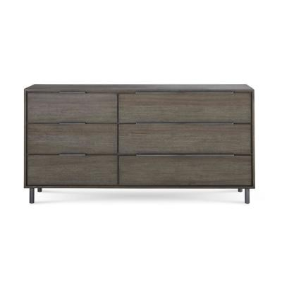 Berkeley 6-Drawer Butcher Block Dresser 36 in. H x 72 in. W x 18 in. D